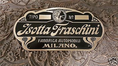 Isotta Fraschini Car Body Builders Medallion 1905 - 1935 Stutz & Other Makes