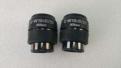 Nikon C-w10xb22 Stereo Smz Microscope Diopter Eyepieces Pair
