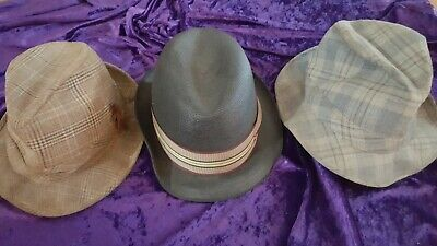 1950s Mens Hats | 50s Vintage Men's Hats 3 HATS - VINTAGE 1950's 1960's 1970's MEN'S MENS 7 1/4 HAT LOT Resistol CLASSY ! $49.95 AT vintagedancer.com