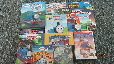Lot of 13 Thomas the Train Books, 7 are Hardcover, 3 are Movies