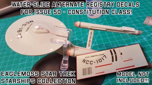 NO MODEL Constitution Class USS ENTERPRISE  REGISTRY DECALS- Star Trek EAGLEMOSS