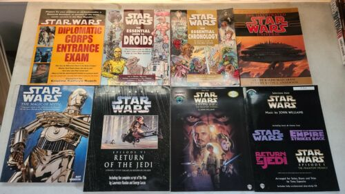 STAR WARS Large Guide, Art, Myth & Music Book Lot - Droids, Chronology
