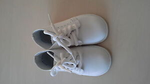 Classic white baby shoes