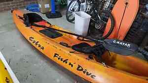 Cobra Fish n Dive sit on Kayak.  Great for ocean fishing Collaroy Manly Area Preview