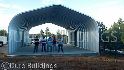Durospan Steel 16x16x12 Metal Building Diy Carport Kit Open Ends Factory Direct