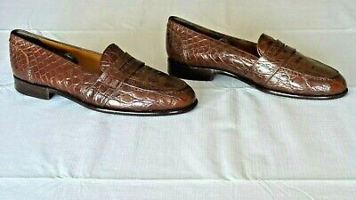 NICE! $2,500 Polo Ralph Lauren Alligator Crocodile Penny Loafers Shoes Boot 10.5