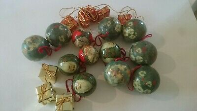 Vintage Job Lot Bundle of 16 Christmas Tree  decorations Retro Ornaments