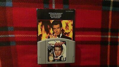 GoldenEye 007 (Nintendo 64, 1997) - Cartridge & Game Manual - PAL