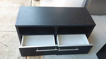 Black TV Cabinet with 2 Draws Airds Campbelltown Area Preview