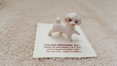 Toy Poodle Dog (Hagen Renaker Dog Toy Poodle Figurine Miniature Collect New Free Shipping 03230 )
