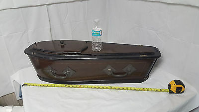 "Antique 1880s Coffin Casket Burial Funeral Infant Pet Salesman's Sample 36"" Long"