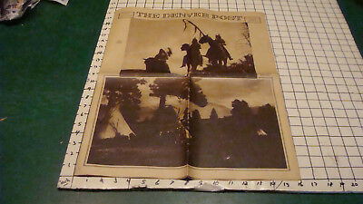 vintage April 24, 1932 newpaper THE DENVER POST - NATIVE AMERICAN PICTURES, cool