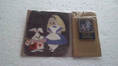 *~* ART OF DISNEY SERIES JAPAN DISNEY MALL ALICE & WHITE RABBIT LE 200 PIN *~*