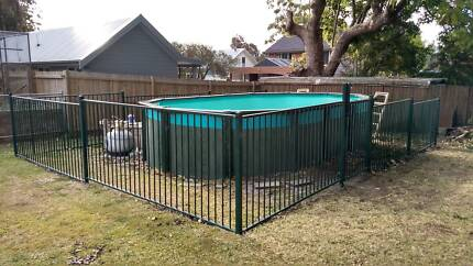 Pool fencing - 29m of ARC tubular steel fence in good condition