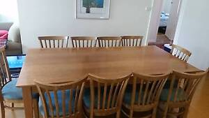 Solid Victorian Ash Table & 10 Chairs Beaumaris Bayside Area Preview