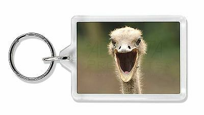 Ostritch Photo Print Photo Keyring Animal Gift, AB-OS1K