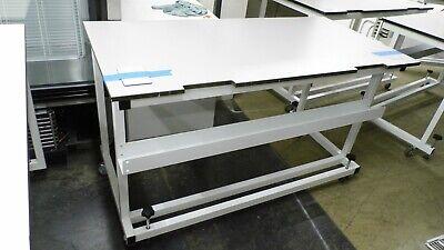 60w X 30d X 35h Laminate Top Lab Benchtable W Castors Wheel Stops Slots