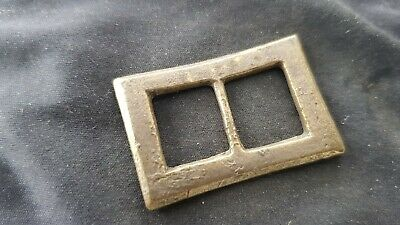 Superb 16/17 hundreds bronze buckle professionally cleaned found in UK L135n