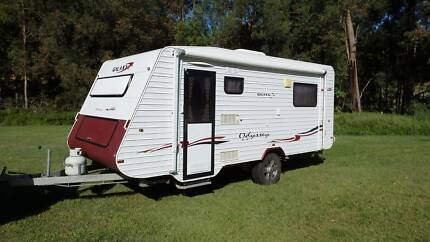 "2009 GALAXY ODYSSEY FAMILY OFF ROAD CARAVAN 18'6"" Tallai Gold Coast City Preview"