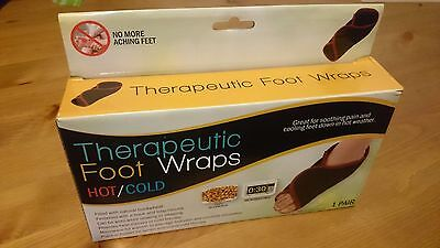 2 Therapeutic Hot Cold Foot Wraps Microwave Or Freezer Foot Ache And Pain Relief