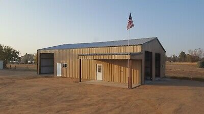 40x60x14 Steel Building Simpson Garage With Partial Lean-to As Shown In Picture