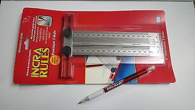 Incra New Metric 150mm Precision T-Square T-Rule 707520 + Incra Pencil