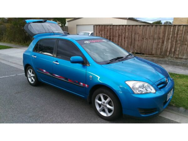 Up for sale Toyota corolla 2007 hatchback with RWD and rego