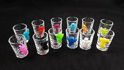 new bar party suction cup tools glass Markers Party People - Set of 12