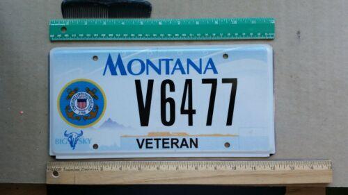 License Plate, Montana, United States Coast Guard Veteran, V 6477
