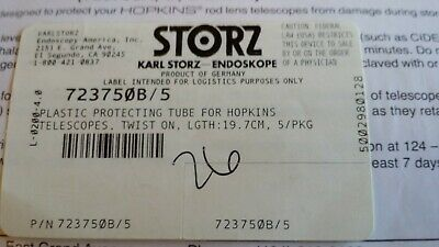 723750b 5 Karl Storz Scope Protecting Plastic Tube Wl 19.7cm Package 5
