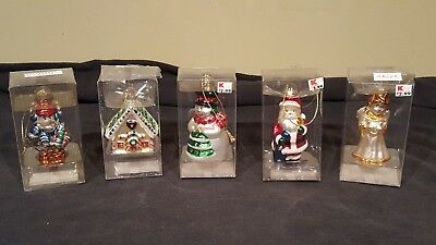 Variety of 5 Kmart Christmas Ornaments