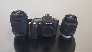 Nikon D90 Digital SLR Camera with18-55mm and 55-200mm Lense Glenfield Campbelltown Area Preview