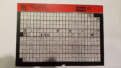 Case Parts Catalog Microfiche Tractor Early Letter Series La Lah