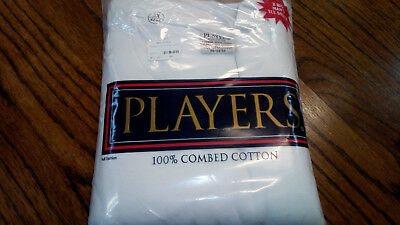 Players Big Man White Cotton Crew Neck T Shirt, undershirts 2 Pack size 4X-6X