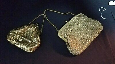 Vintage Evening Bags German Rhinestones and Whiting &Davis Gold -