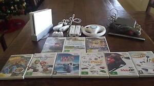 Wii Console White with 9 games and accessories Flinders Park Charles Sturt Area Preview