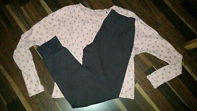 Pyjama Schiesser Gr.S 152 rosa braun Fledermausärmel Zipfel (Rosa Fledermaus Mädchen)