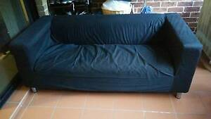 USED Ikea Klippan 2 seater sofa - black cover for SALE!! Homebush West Strathfield Area Preview