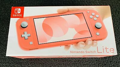 Nintendo Switch Lite Coral Color New in Box Fast Shipping In Hand Coral