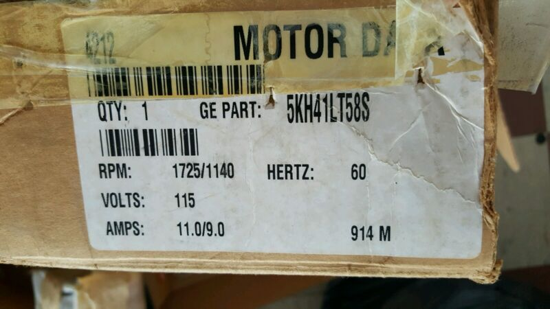 NEW GENERAL ELECTRIC Motor ,3/4 HP ,Appliance 5kh41lt58s
