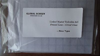 New Linhof Master Technika 4x5 Camera Fresnel Lens + Ground Glass-Best quality