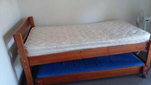 REDUCED - Wooden Trunde single beds Putney Ryde Area Preview