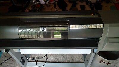 Hp Designjet 5500 5500ps 42 Large Format Uv Inkjet Printer Wstand -refurbished