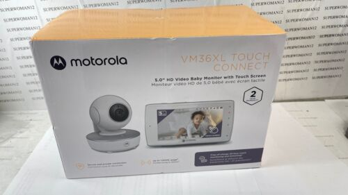 """New Motorola VM36XL Touch Connect 5.0"""" HD Video Baby Monitor"""