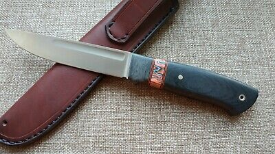 "G.Dedyukhin fixed hunting knife ""Scandi"" Handmade in Bark River Style"