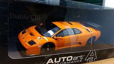 New 1:18 scale model by AutoArt Lamborghini Diablo GTR Coupe in Orange.