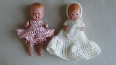 EARLY 1940s NANCY ANN STORYBOOK STARHAND DOLL BABY AND KERR & HINZ DOLL BABY.