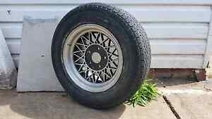 """Early holden torana etc 13"""" hotwire mag wheel and tyre Warrawong Wollongong Area Preview"""