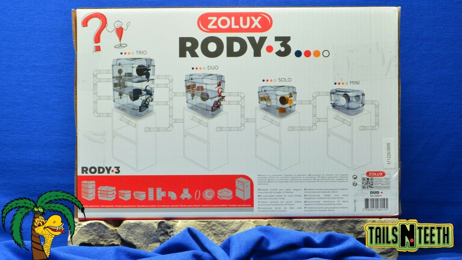 Zolux RODY-3 DUO Cage For Hamsters Gerbils Mice - Red - InterConnecting Cages - CA$56.99