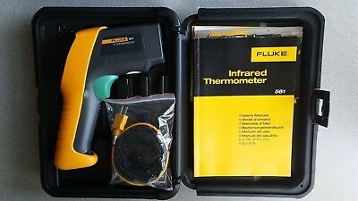 Genuine Fluke 561 Infrared Thermometer With K-type Thermocouple Contact Probe